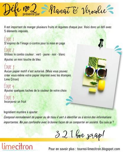 Tournoi Lime Citron Défi #2 Nanat & Véro